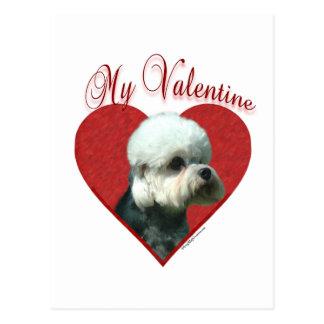 Dandie Dinmont Terrier My Valentine Postcard