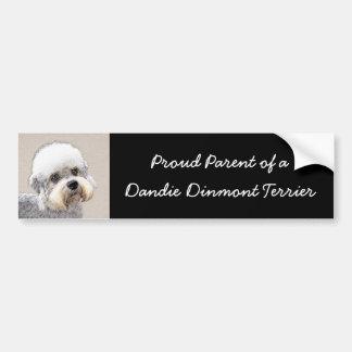 Dandie Dinmont Terrier Painting Original Dog Art Bumper Sticker