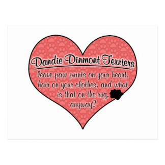 Dandie Dinmont Terrier Paw Prints Dog Humor Postcard