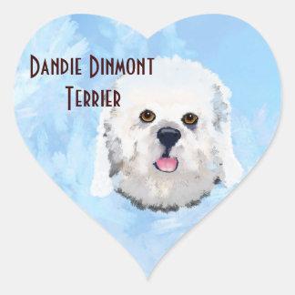 Dandie Dinmont Terrier - Portrait Stickers