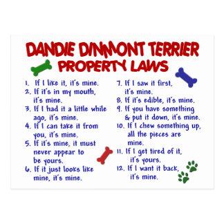 DANDIE DINMONT TERRIER Property Laws 2 Postcard