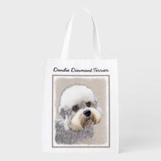 Dandie Dinmont Terrier Reusable Grocery Bag