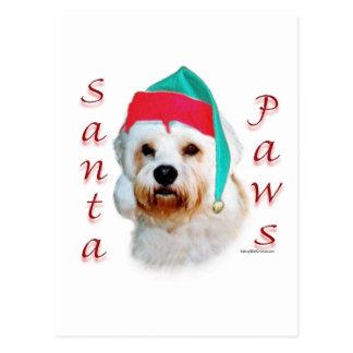 Dandie Dinmont Terrier Santa Paws Postcard