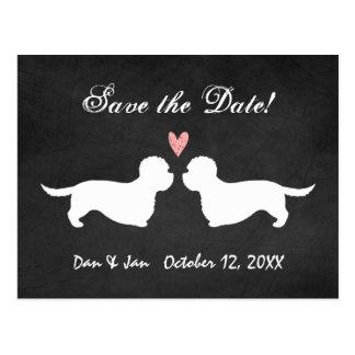 Dandie Dinmont Terriers Wedding Save the Date Postcard