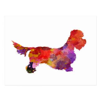 Dandie Dinmont to terrier in watercolor 2 Postcard