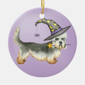 Dandie Witch Ceramic Ornament