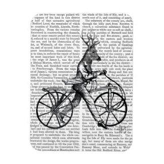 Dandy Deer on Vintage Bicycle Rectangular Photo Magnet