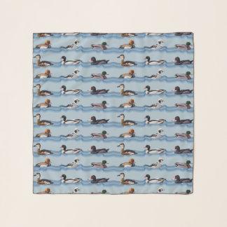 Dandy Ducks Chiffon Scarf (Light Blue)