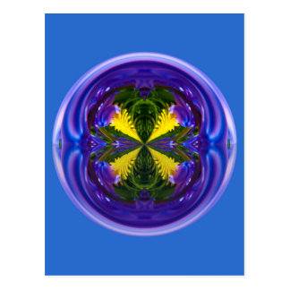 Dandy Four Abstract Globe Post Card