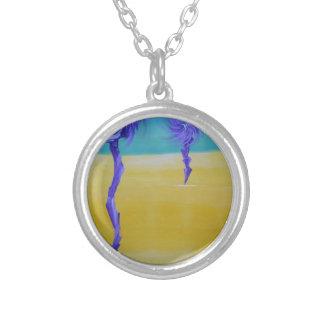 Dandy Lion Desert Round Pendant Necklace