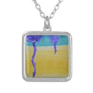 Dandy Lion Desert Square Pendant Necklace