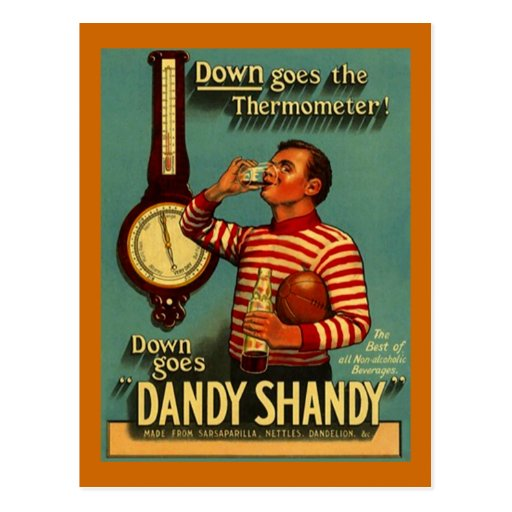 DANDY SHANDY Beverage Ad Vintage Advertising Re~PC Post Card