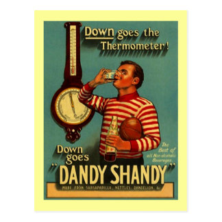 DANDY SHANDY Beverage Ad Vintage Advertising Re~PC Postcard