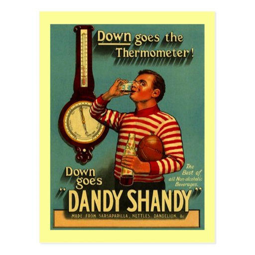 DANDY SHANDY Beverage Ad Vintage Advertising Re~PC Post Cards