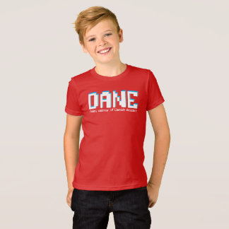 Dane boys name and meaning pixels text T-Shirt