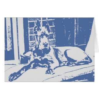 Dane Puppy Print Greeting Card