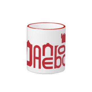 Danebod Red Logo Ringer Mug