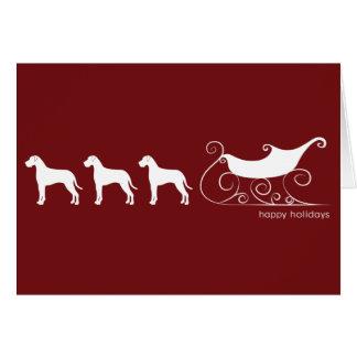 DaneDeer and Santa's Sleigh Card