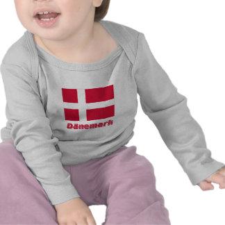 Dänemark Flagge mit Namen Tshirts