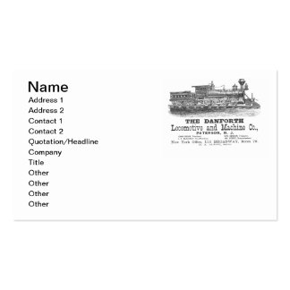 Danforth Locomotive and Machine Company Business Card Templates