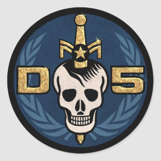 Danger 5 Emblem Sticker Sheet
