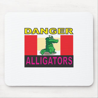 danger aligators mouse pad