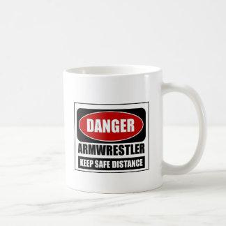 Danger Armwrestler Basic White Mug