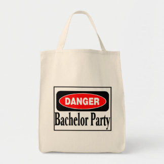 Danger Bachelor Party Grocery Tote Bag