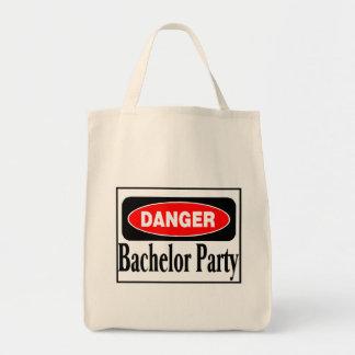 Danger Bachelor Party Canvas Bag