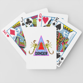 Danger Bicycle Playing Cards
