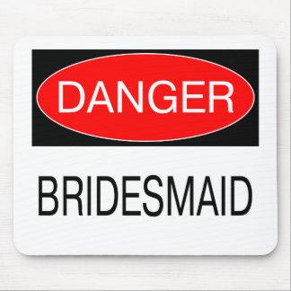 Danger - Bridesmaid Funny Wedding T-Shirt Mug Hat Mouse Pad