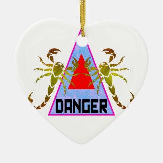 Danger Ceramic Heart Decoration