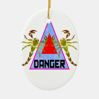 Danger Ceramic Ornament