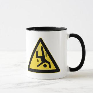 Danger Cliff, Chinese Sign Mug