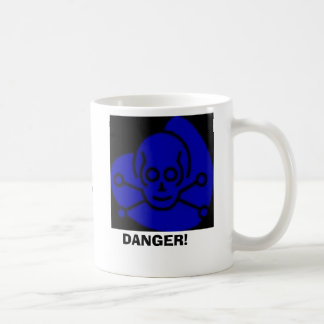 Danger, DANGER!, Contains Dihydrous MonoxideHar... Basic White Mug