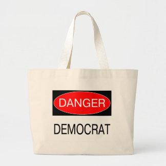 Danger - Democrat Funny Political T-Shirt Mug Hat Jumbo Tote Bag