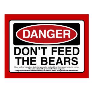 DANGER: Don't Feed the Bears Postcard