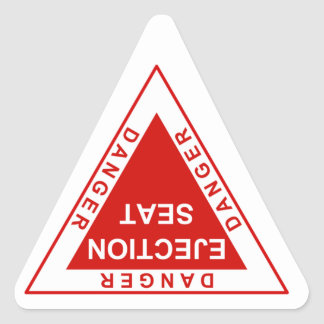 Danger Ejection Seat Triangle Sticker