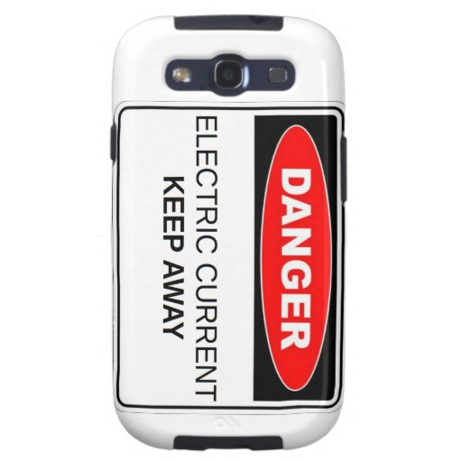 Danger Electric Current Galaxy S3 Cover