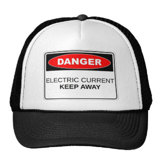 Danger Electric Current Mesh Hat