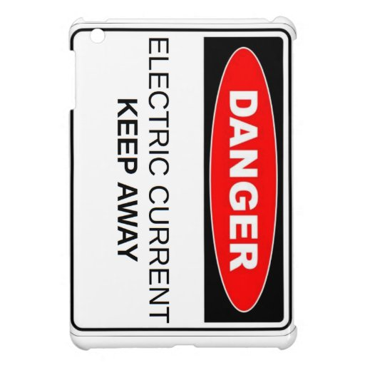 Danger Electric Current iPad Mini Cover