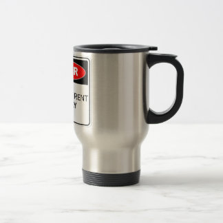 Danger Electric Current Stainless Steel Travel Mug
