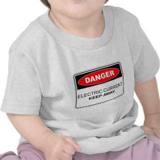 Danger Electric Current Tees