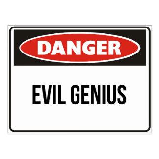 Danger - Evil Genius Postcard