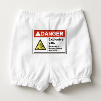 """Danger Explosive Gas"" Baby Bloomers Nappy Cover"