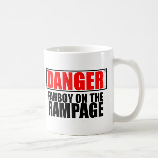 DANGER: Fanboy on the Rampage Mugs