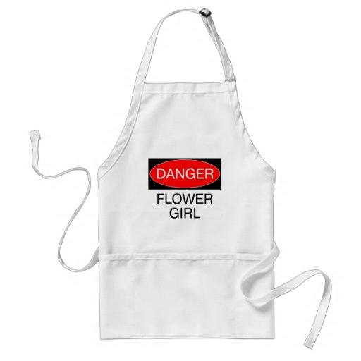 Danger - Flower Girl Funny Wedding T-Shirt Mug Hat Aprons