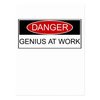 Danger Genius at Work Post Card