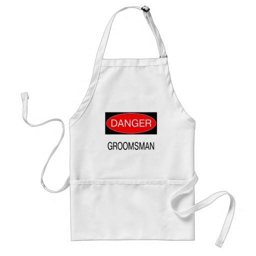Danger - Groomsman Funny Wedding T-Shirt Mug Hat Apron