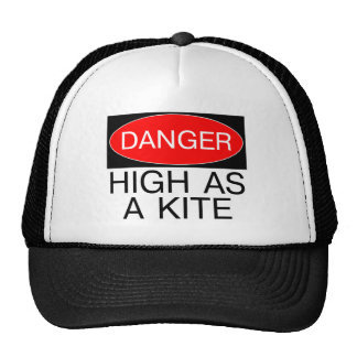 Danger - High As A Kite Funny Safety T-Shirt Mug Mesh Hat